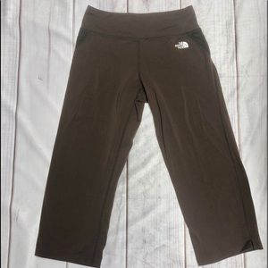 North Face Brown Cropped Leggings S